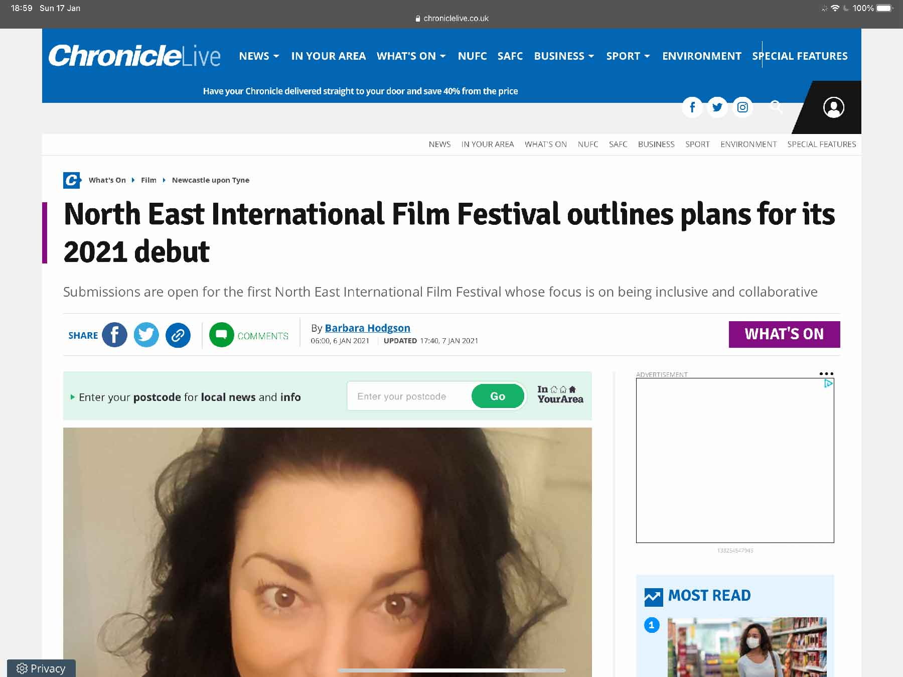 North East International Film Festival outlines plans for its 2021 debut